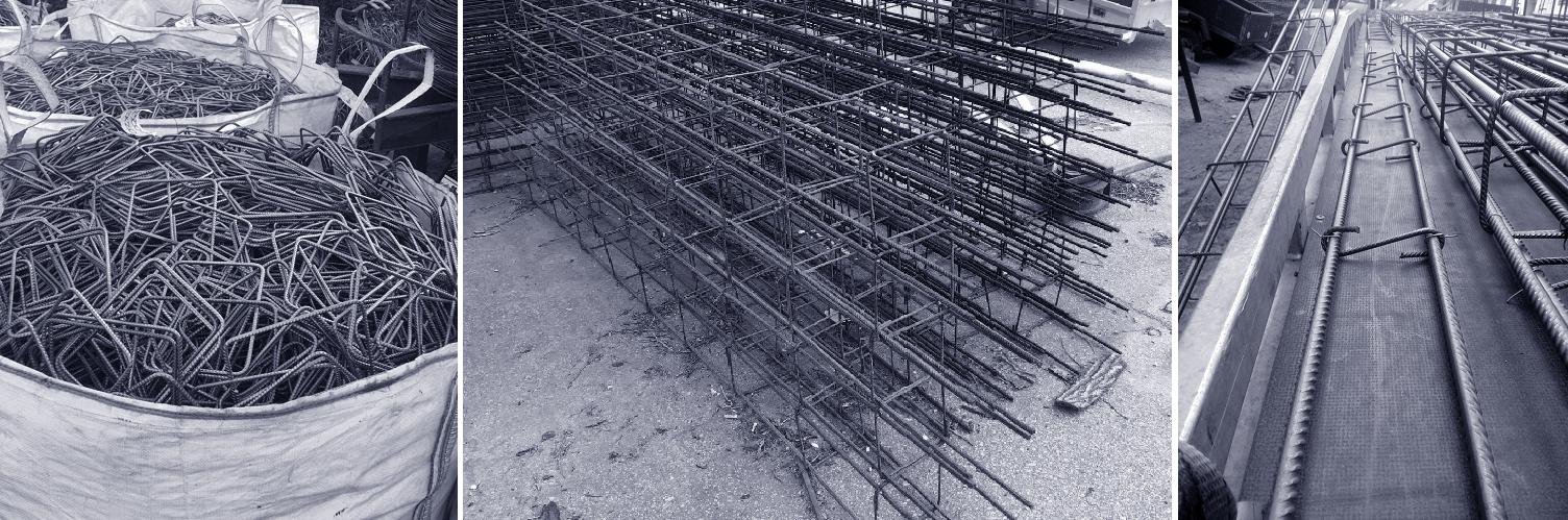 Polotovary pro výrobu železobetonového věnce